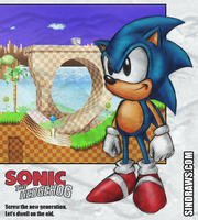 Classic Sonic Card by sinDRAWS