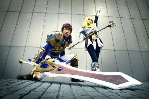 LoL - Garen and Lux - 01 - by mangalphantom