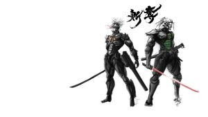 Raiden and Jetstream Sam Fan Art Wallpaper by visualinfinity
