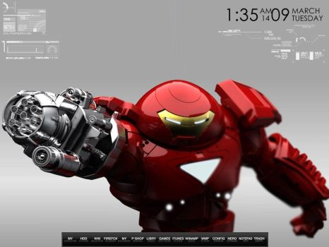 Hulkbuster Iron Man Desktop by wallybescotty