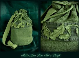 Whispers of Oak  Elvish pouch by Gwillieth