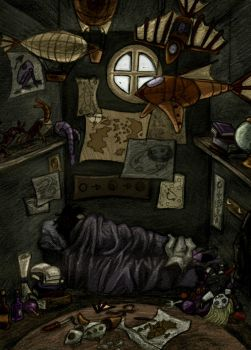 Zoemo's Room by MagpieOnMars