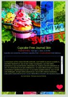 Cupcake Free Journal Skin by pomppet