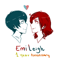 1 year anniversary by EmiAnimeOriginal