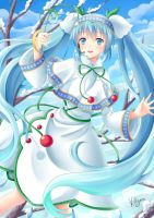 Snow Miku 2015 by Villyane