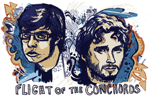 Flight of the Conchords by Sophillia