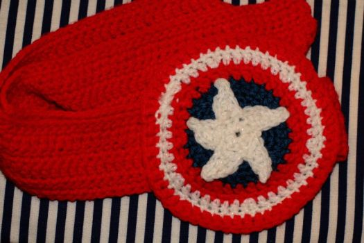Captain America Headband by SweetNerdyCakes