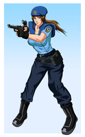 AQ: Jill Valentine Colored by ZeroR102