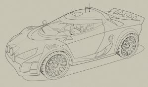 Lancia Stratos Vexel Line art resource by dangeruss