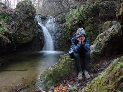 Gothpaladinus at Solymar waterfall (2016.11.18) by Gothpaladinus