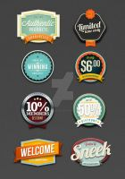 Retro Vintage badges by SneekDigital