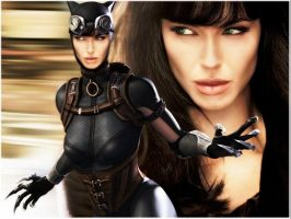 Angelina Jolie as Catwoman by EvilMaybe