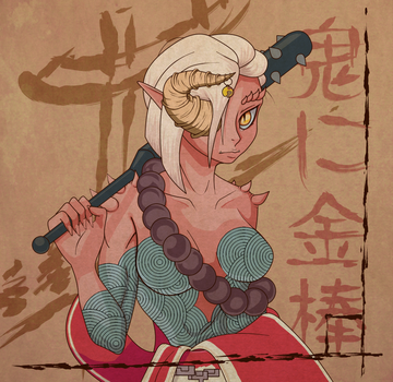 Female Oni Yuzuka by theMuesLee