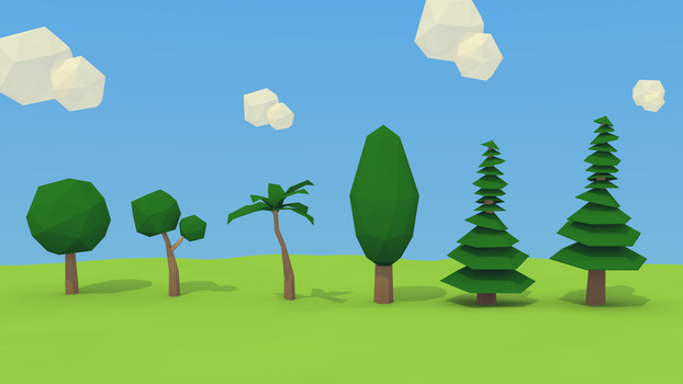Low Poly Tree Study by Guizx