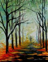 MORNING FOG -' LEONID AFREMOV by Leonidafremov