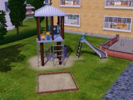 Sims 3 - Beauregarde Girls and I in playground 2 by Magic-Kristina-KW