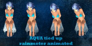 K.H Aqua tied up rainmeter animated by harunoTragedy