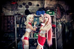 Vocaloid girls-mechanics by bellatrixaiden