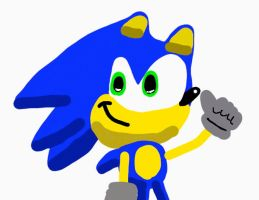 Sonic and his thumb by sonic1147