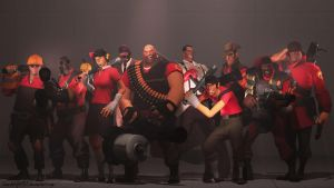 Team Fortress 2 Characters + Female Scout by LoneWolfHBS