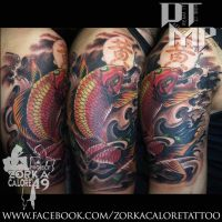 red koi tattoo by zorka calore tattoo by surfboyz12