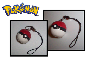 Pokemon-Inspired Pokeball Charm by UniqueTreats