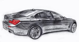 BMW 7 drawing 2 by MentosDesign