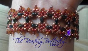 Twin Tiles Bracelet - Tutorial Available by beadg1rl