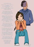 Ty-Lee and Sokka by Sethrity