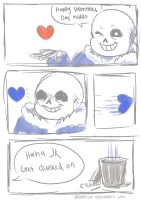 Happy Valentine's Day from Sans by danlimlim