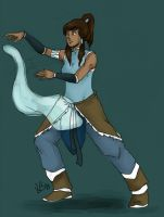 Korra waterbending by LilyScribbles