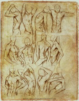 +MALE BODY STUDY II+ by jinx-star