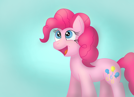Happy Pinkie by Blue-Blazer-pony