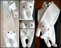 Longcat is Looong Fleece Scarf by HezaChan