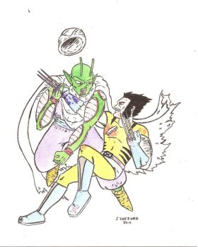 Wolverine vs Piccolo by accidentalsounds