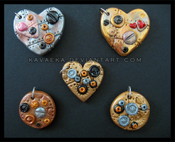 Steampunk Pendants Set 2 by Kavaeka