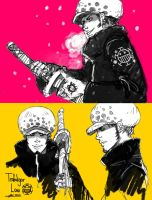 Trafalgar Law sketchdump by kimiko