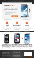 Samsung Galaxy Website by Rainbowdesign92