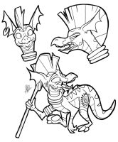 Dragon Zecora Sketches by secoh2000