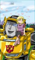 Bumblebee and Butterflies by combatmaster