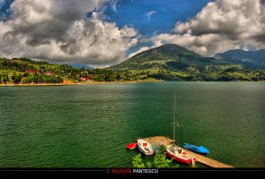 Colibita Lake by razvanx