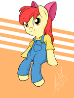 Applebloom in her outfit by Natsu714