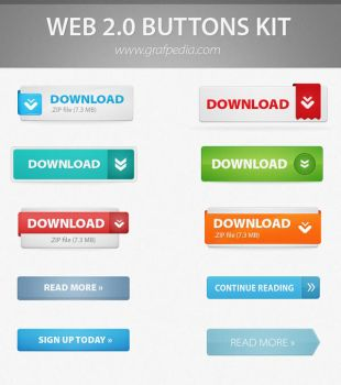 Call to action buttons by Grafpedia