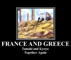 Hetalia: France and Greece by BFTLandMWandSEK
