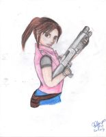 Claire Redfield (Pencil Color) 2 by NightAngel-16
