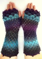 Galaxy Dragon Gloves - Mid by FearlessFibreArts