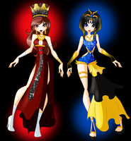 TRADE: Serena and Cathryn Egyptix by SamoanVampCatt