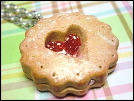 Jam Cookie Necklace by GrandmaThunderpants