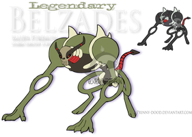 Fake Pokemon - Belzades by Prinny-Dood
