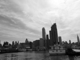 New York Docks: Black+White by sympatheic-darkness
